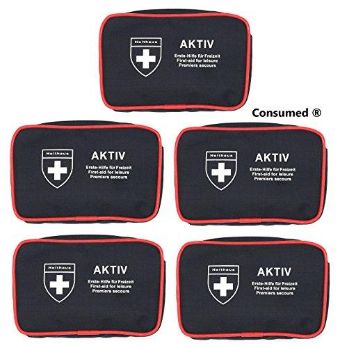 5 Stück Aktiv Verbandtaschen von Holthaus Medical jeweils mit 24 teiliger Füllung – im exklusiven Consumed Bundle