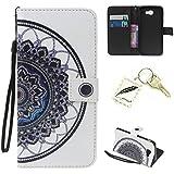 Silikonsoftshell PU Hülle für Samsung Galaxy J5 Prime G570F (5.0 Zoll) Tasche Schutz Hülle Case Cover Etui Strass Schutz schutzhülle Bumper Schale Silicone case(+Exquisite key chain X1) #KH