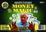 Jim Stott Magic Magic Kit Ultime Argent, Magic Tricks Set pour Adultes, Pièce de Monnaie Thru Verre, Coins Volant, Magic Pen Pénétration, Le Money Maker, Mystère de Pliage de Papier