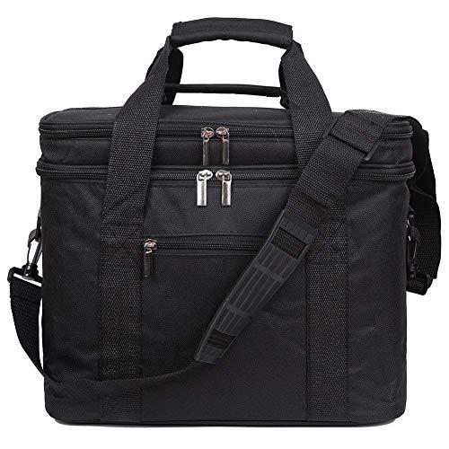EGOGO Lunchtasche Mittagessen Kühltasche Tasche Thermotasche Picknicktasche für Männer und Frauen Lebensmitteltransport E524-1 (Schwarz)