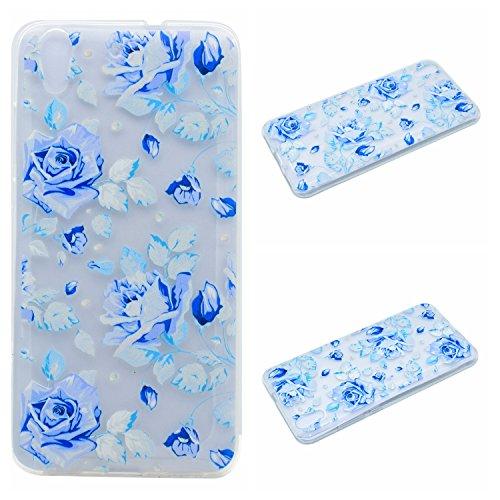 Qiaogle Téléphone Coque - Soft TPU Silicone Housse Coque Etui Case Cover pour Apple iPhone 5 / 5G / 5S / 5SE (4.0 Pouce) - QI04 / Diamant Rayures QI01 / Bleu Rose