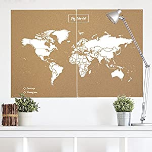 Miss Wood Map XXL – Mapa del Mundo de Corcho