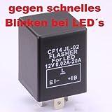 Blinkrelais CF14 Relais Blinker für LED Lampe lastenunabhängig zB Ba15S Bau15S