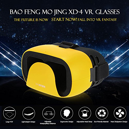 docooler Bao Feng Mojing XD-4 VR Virtual Reality Brille 3D-VR-Brille Headset 3D Movie Game Universell für Android iOS Smart Phones innerhalb von 4,7 bis 5,7 Zoll - 5