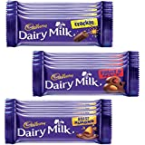 [Sponsored]Cadbury Dairy Milk Chocolate Bar, Pack Of 12 ( Fruit And Nut, 4x36g, Roast Almond, 4x36g, Crackle, 4x36g)