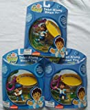 Go Diego Go Set of 3 Take Along Name Tags Key Clip On