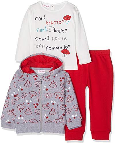 Brums Brums Baby-Mädchen Jogginganzug 183BEEP002-752 Rosso 13 752, 80 cm