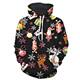 Kapuzenpullover Sunnyadrain Herren Weihnachten 3D Muster Loose Plus Größe Geschäft Pullover Winter Warm Sweatshirt Top Langarm