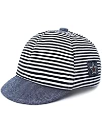 Ziory Baby Boys  and Baby Girl s Cotton-Acrylic Striped Summer Cap (Blue) 38f301cd5b36