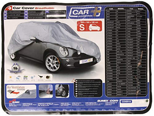 Sumex COVER1S Car Protection Cover 400 x 160 x 120 cm Small Size Weather- and Waterproof