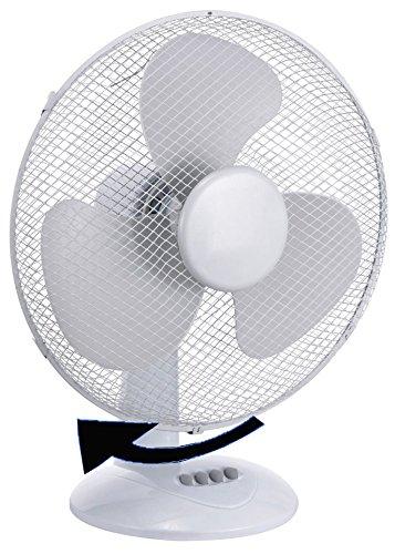 15cm Durchmesser Ø Tischventilator Desk Fan verschiedene Geschwindigkeitsstufen Ventilator mit 180° Rotation, leiser Betrieb Desk Fan Windmaschine (Ø15cm)