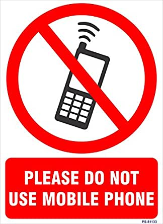 Signageshop Ps 81133 Vinyl Please Do Not Use Mobile Phone