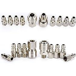 SODIAL 10x raccord coupleur rapide compresseur pneumatique pompe systeme Forme Europeen