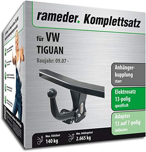 fahrradtraeger tiguan Rameder Komplettsatz, Anhängerkupplung starr + 13pol Elektrik für VW TIGUAN (113107-06397-1)