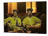 Breaking Bad, Format: 120x80 Bild auf Leinwand gespannt, Leinwandbild, 1A Qualität zu 100% Made in Germany! Kein Poster Kein Plakat! Echtholzrahmen mit beigelieferten Zackenaufhängern. Fertig bespannt, Sofort dekorieren. Vier verschiedene Formate.