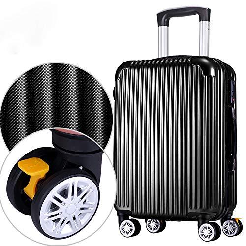 XLY Handgepäck aus Hartschalen-Handgepäck mit 4 Spinner-Rädern Leichter ABS-Trolley mit Reißverschluss Reisetasche,Schwarz,26inch (Hardside Schwarz Gepäck)