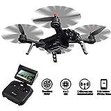 TIME4DEALS MJX B6 Bug 6 1600mkv Brushless Motor Racing Drone Quadcopter, FPV Transmisión en tiempo real, Cámara de apoyo 5.8G HD 720P, 2.4GHz 4 Chanel 6 Eje Gyro RC Quadcopter.