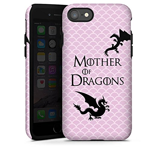 Apple iPhone 7 Hülle Case Handyhülle Drachen Game of Thrones GOT Tough Case glänzend