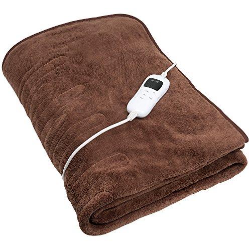 Preisvergleich Produktbild Heizdecke 180x130cm mit 9 Temperaturstufen,  waschbar,  Abschaltautomatik und flauschigem Bezug Wärmeunterbett Wärmedecke