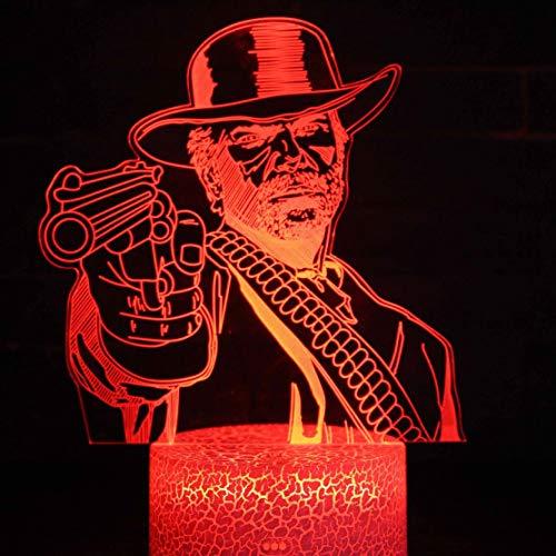 Niederlande Van Der Linde Led nachtlicht schlafzimmer dekoration spiel Red Dead Redemption 2 Nachtlicht Lampe geschenk dekoration zubehör