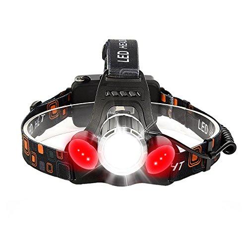 LED Stirnlampe, Neolight Super Helle 5000 Lumen Wasserdichter LED Kopflampe Scheinwerfer mit 4 Helligkeits-Modi Perfekt für Laufen, Campen, Wandern und Spazierengehen