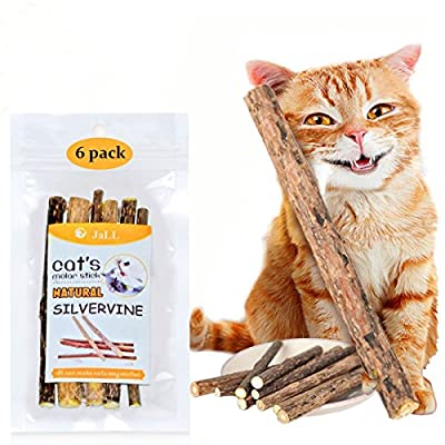 Matatabi Sticks, 6 PCS Dental Stick Natural Dental Care Catnip Sticks Toys Chew for Teeth Cleaning, Indoor Cat Toy for Healthy Teeth