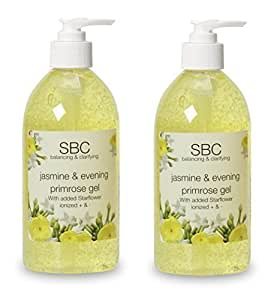 SBC Gelsomino & Olio Di Primula Notturna Cura della pelle Gel 125ml Duo Due 125ml Bottiglie