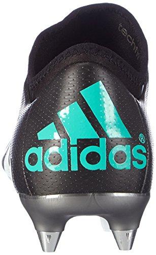 adidas X 15.1 Sg, Chaussures de Football Compétition Homme, Noir/Rose, 42,5 EU Noir (Schwarz/Mint/Weiß/Rosa)