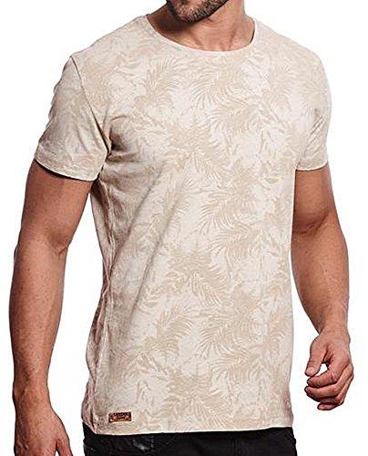Brandneu !!! Designer T-Shirt von CARISMA in Beige mit floralem Print CRM4414 Beige