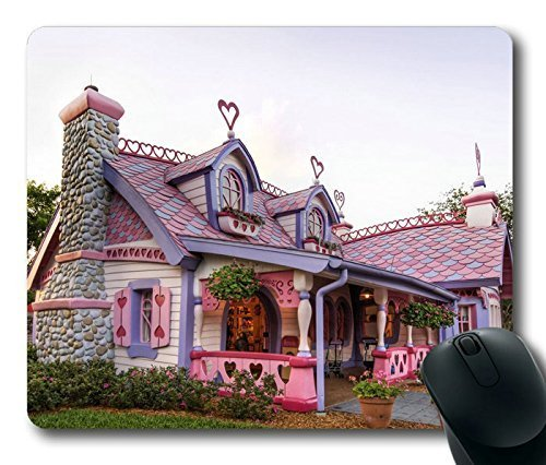 beautiful-pink-fairy-house-limited-design-oblong-mouse-pad-by-cases-mousepads