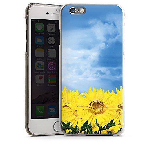 Apple iPhone 4 Housse Étui Silicone Coque Protection Tournesols Ciel Soleil CasDur transparent