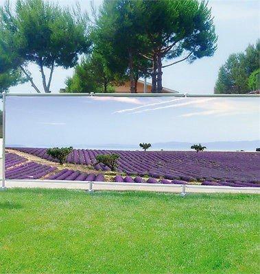 Stickersnews - Brise vue déco personnalisé jardins, terrasses et balcons Lavandes réf 3611 Occultation - 100%, Dimensions - 180x70cm