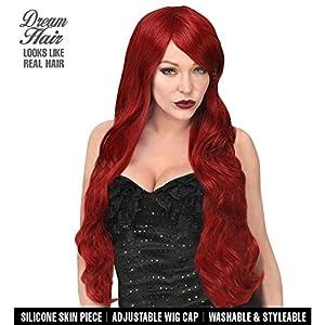 WIDMANN 02117Kayla Cosplay Dream Hair peluca, mujer, burdeos rojo