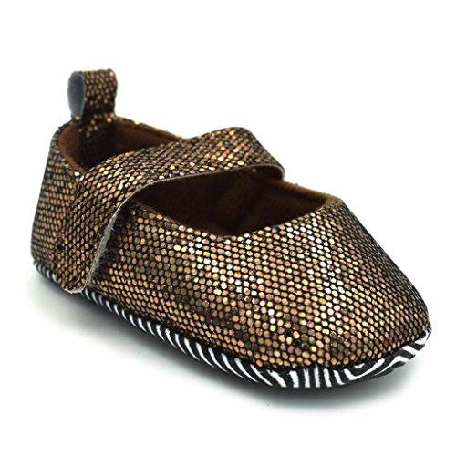 Igemy 1 Paar Neugeboren Kleinkind Baby Säuglinge Mädchen Niedlich Weiche Sequins Anti-Rutsch Schuhe Braun