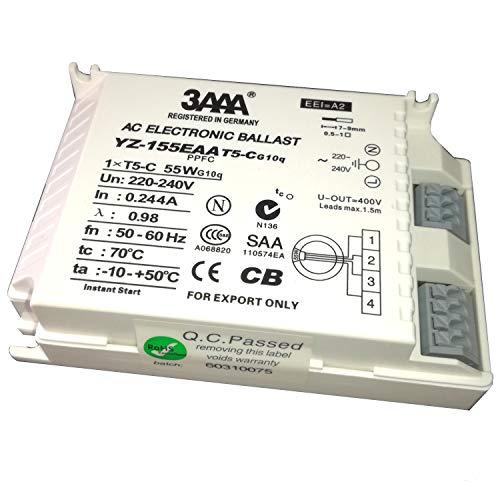 3AAA Elektronisches Vorschaltgerät T5hyq 1x 60W/220–240Für t5-c-60W im Loop Leuchtstofflampe, weiß Farbe