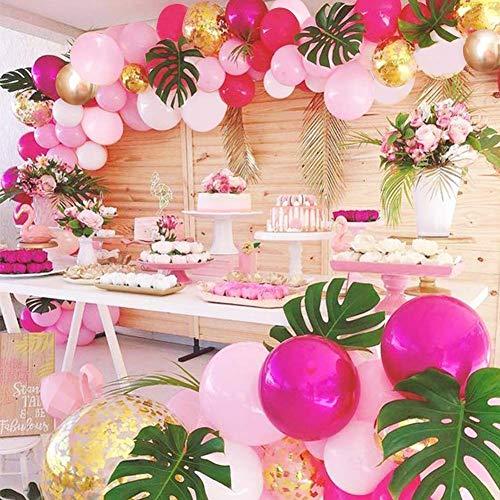 Mädchen Geburtstag Flamingo Girlande Kit Ballon Party 70 Stück 30,5 cm rosa Rose rot weiß Gold Schildkröte Blätter Luft Pumpe Hochzeit Schleife Baby-Dusche Hallo Kitty Party
