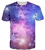 uideazone Männer Frauen Universum Star Galaxy 3D-Gedrucktes T-Grafik-T-Shirt