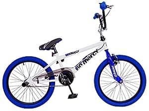 Rooster No Mercy-20W BMX Bike - White/Blue/White