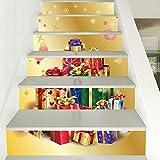 XYL HOME Weihnachten verkleiden Treppen sind voller Geschenke, Treppen und dekorative Wandaufkleber