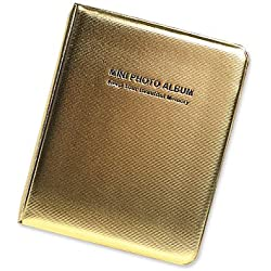 DSstyles Album de photos Livre Photo 64 poches Album de photos de luxe pour Fujifilm Instax Mini 7S 8 25 50S Films - Or