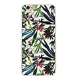 Freessom Coque iPhone 6/6s Silicone Motif Original Dessin Exotique Feuille Fleuri...