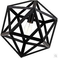 KHSKX Antico lampadario in ferro battuto hexahedral