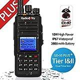 Radioddity * GD-55 Plus * DMR Digital UHF Funkgerät Walkie-Talkie 10W Ham Radio, 256CH, IP67 wasserdicht, mit 2800mAh Batterie, Programmierkabel und 2 Antennen, Dual Time Slot