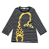 Tarkis Kinder T-Shirt Baumwolle Streifen Feuer Cartoon Auto Muster Jungen Mädchen Kurzarm Oberteil Pullover Größe 98