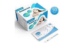 HOMIEE Kits de Tests de Ovulación, Pruebas De Embarazo De Alta Sensibilidad, con resultados precisos y confiables. (50pc LH) PT1050