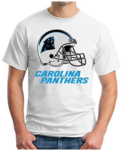 ... 52 LII | NFL | S - 5XL Weiß. OM3 Carolina Panthers - T-Shirt | Herren | American  Football Shirt | Super Bowl
