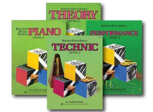Bastien Piano Basics Level 3–Vier Book Set–Beinhaltet Level 3Klavier, Theorie, Technik, und Leistung Bücher