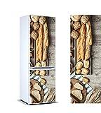 Vinyle adhésif pour les réfrigérateurs autocollants stickers frigo variété de pain de 185x70 cm| Adhésif Résistant et facile d'appliquer |Étiquette Adhésive Décorative d'une conception élégante|