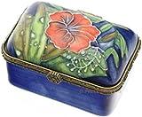 Old Tupton Ware - Hibiscus Design, 2 inch hinged rectangular trinket box