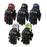 Texpeed - Herren Motorrad-Handschuhe aus Textil - kurz - mit Protektoren - erhältlich in 5 Farben - Rot - M